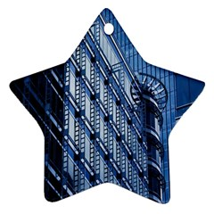Building Architectural Background Star Ornament (two Sides)