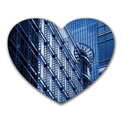 Building Architectural Background Heart Mousepads