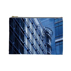 Building Architectural Background Cosmetic Bag (large)