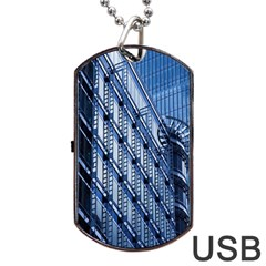 Building Architectural Background Dog Tag USB Flash (Two Sides)