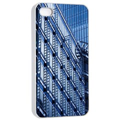 Building Architectural Background Apple iPhone 4/4s Seamless Case (White)