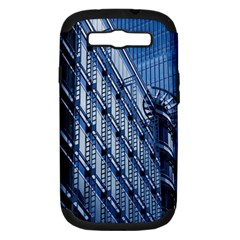 Building Architectural Background Samsung Galaxy S III Hardshell Case (PC+Silicone)