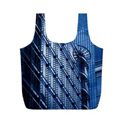 Building Architectural Background Full Print Recycle Bags (m)