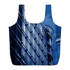 Building Architectural Background Full Print Recycle Bags (L)