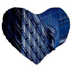 Building Architectural Background Large 19  Premium Flano Heart Shape Cushions