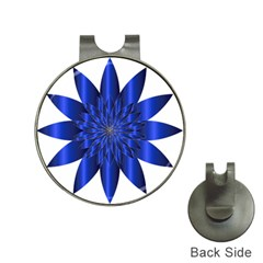 Chromatic Flower Blue Star Hat Clips With Golf Markers