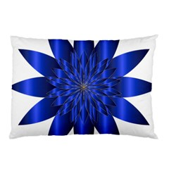 Chromatic Flower Blue Star Pillow Case