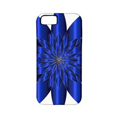 Chromatic Flower Blue Star Apple Iphone 5 Classic Hardshell Case (pc+silicone)