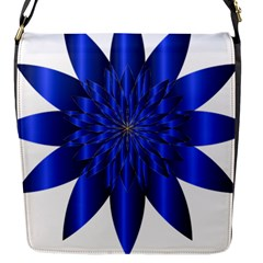 Chromatic Flower Blue Star Flap Messenger Bag (s)