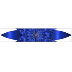 Chromatic Flower Blue Star Flano Scarf (large)