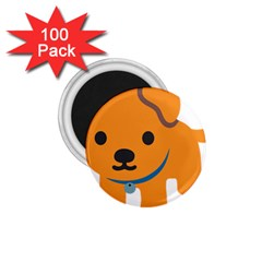 Dog 1 75  Magnets (100 Pack)