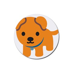 Dog Rubber Round Coaster (4 Pack)