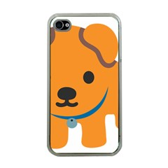 Dog Apple Iphone 4 Case (clear)