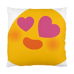 Emoji Face Emotion Love Heart Pink Orange Emoji Standard Cushion Case (two Sides)