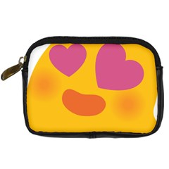 Emoji Face Emotion Love Heart Pink Orange Emoji Digital Camera Cases