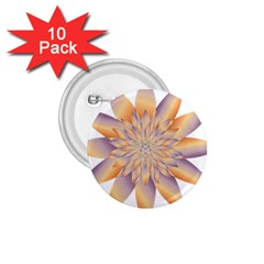 Chromatic Flower Gold Star Floral 1 75  Buttons (10 Pack)