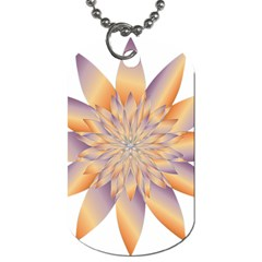 Chromatic Flower Gold Star Floral Dog Tag (one Side)