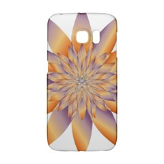 Chromatic Flower Gold Star Floral Galaxy S6 Edge