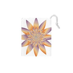 Chromatic Flower Gold Star Floral Drawstring Pouches (xs)