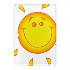Domain Cartoon Smiling Sun Sunlight Orange Emoji Samsung Galaxy Tab Pro 12.2 Hardshell Case