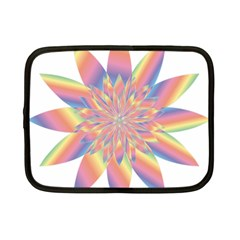 Chromatic Flower Gold Rainbow Star Netbook Case (Small)