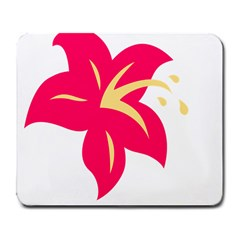 Flower Floral Lily Blossom Red Yellow Large Mousepads