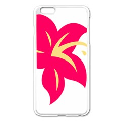 Flower Floral Lily Blossom Red Yellow Apple Iphone 6 Plus/6s Plus Enamel White Case