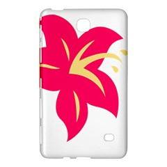 Flower Floral Lily Blossom Red Yellow Samsung Galaxy Tab 4 (7 ) Hardshell Case