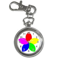 Fan Star Floral Key Chain Watches
