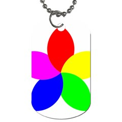Fan Star Floral Dog Tag (two Sides)