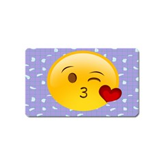 Face Smile Orange Red Heart Emoji Magnet (name Card)