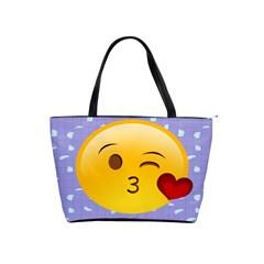 Face Smile Orange Red Heart Emoji Shoulder Handbags