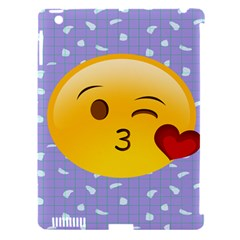 Face Smile Orange Red Heart Emoji Apple Ipad 3/4 Hardshell Case (compatible With Smart Cover)