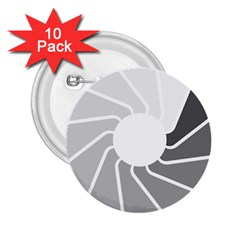 Flower Transparent Shadow Grey 2 25  Buttons (10 Pack)