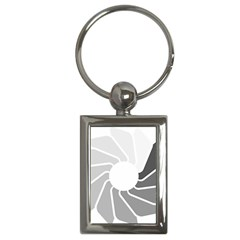 Flower Transparent Shadow Grey Key Chains (rectangle)