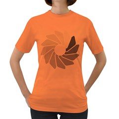 Flower Transparent Shadow Grey Women s Dark T Shirt