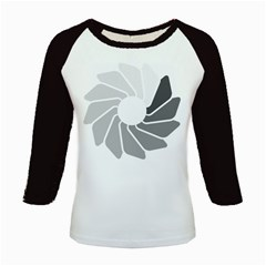 Flower Transparent Shadow Grey Kids Baseball Jerseys