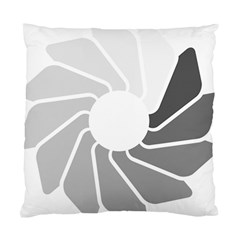 Flower Transparent Shadow Grey Standard Cushion Case (one Side)