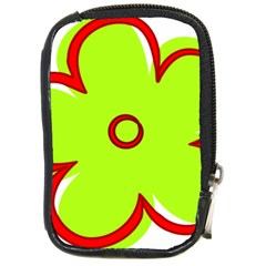Flower Floral Red Green Compact Camera Cases