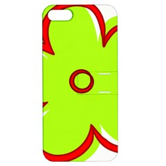Flower Floral Red Green Apple Iphone 5 Hardshell Case With Stand