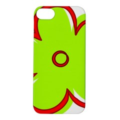 Flower Floral Red Green Apple iPhone 5S/ SE Hardshell Case