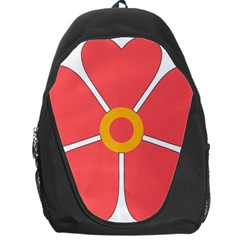 Flower With Heart Shaped Petals Pink Yellow Red Backpack Bag
