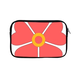 Flower With Heart Shaped Petals Pink Yellow Red Apple Macbook Pro 13  Zipper Case