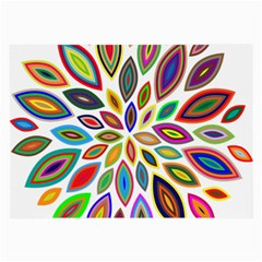 Chromatic Flower Petals Rainbow Large Glasses Cloth (2 Side)