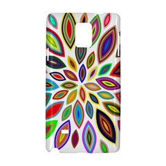 Chromatic Flower Petals Rainbow Samsung Galaxy Note 4 Hardshell Case