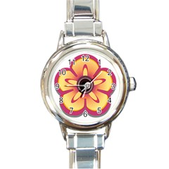 Flower Floral Hole Eye Star Round Italian Charm Watch