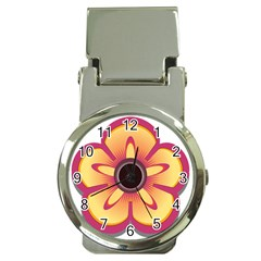 Flower Floral Hole Eye Star Money Clip Watches