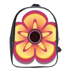 Flower Floral Hole Eye Star School Bags(Large)