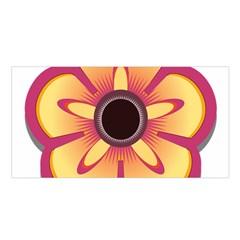 Flower Floral Hole Eye Star Satin Shawl