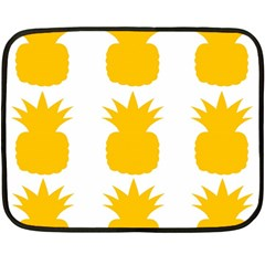 Fruit Pineapple Printable Orange Yellow Fleece Blanket (Mini)